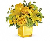 Teleflora's Sunny Mood Bouquet in St. Clair Shores MI, DeRos Delicacies