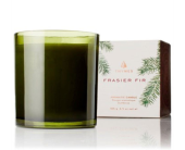 Kirkland Flowers - Thymes Frasier green glass candle  - City Flowers, Inc.