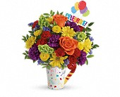 Crystal Lake Flowers - Teleflora's Celebrate You Bouquet - Locker's Flowers, Greenhouse & Gifts