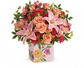 Oak Lawn Flowers - Teleflora's Brushed With Blossoms Bouquet - Mostly Flowers Ltd