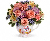 Teleflora's Butterfly Sunrise Bouquet in Palmer MA, Maryniski's Flowers & Greenhouse