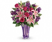 Teleflora's Luxurious Lavender Bouquet in Elkland PA, The Rainbow Rose