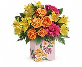 Teleflora's Painted Blossoms Bouquet in Burlington WI, gia bella Flowers and Gifts
