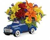 Vintage Ford Pickup Bouquet by Teleflora in St. Clair Shores MI, DeRos Delicacies