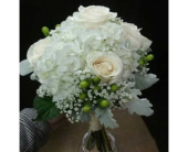 Cream Bridesmaid Bouquet in Belford, New Jersey, Flower Power Florist & Gifts