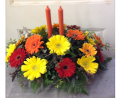 Fall Gerber Centerpiece  in Smyrna GA, Floral Creations Florist