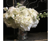 Silver & White Centerpiece in Staten Island NY, Kitty's and Family Florist Inc.