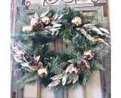 Silk Christmas Door Wreath in Smyrna GA, Floral Creations Florist