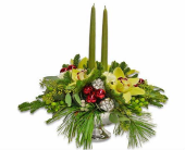 Royal Holiday Centerpiece in Trumbull CT, P.J.'s Garden Exchange Flower & Gift Shoppe