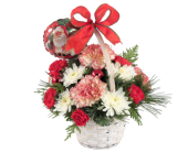 Santa Claus Basket Bouquet in Southfield MI, Thrifty Florist