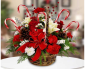 Beach City Florist  Candy Cane Basket  in San Clemente CA, Beach City Florist
