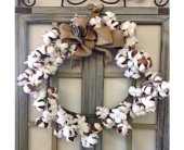 Cotton Wreath in Smyrna GA, Floral Creations Florist