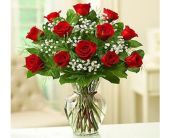 Fishers Flowers - Red Roses & Babies Breath - George Thomas, Inc.