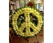 Peace Sign in Huntington, New York, Martelli's Florist