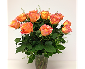 Orange Roses Arranged in London ON, Posno Flowers