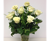 White Roses Arranged in London ON, Posno Flowers