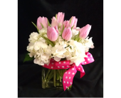 Tulips and Polka Dots in Largo FL, Rose Garden Flowers & Gifts, Inc