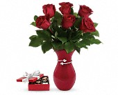 Gift From The Heart Bouquet with chocolates in Port Alberni BC, Azalea Flowers & Gifts