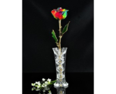 RAINBOW FOREVER ROSE IN A VASE in Yelm WA, Yelm Floral