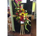 BAMBOO CROSS EASEL in Missouri City TX, Flowers By Adela