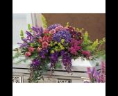 Graceful Tribute Casket Spray in Angus, Ontario, Jo-Dee's Blooms & Things