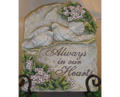 Always in our Hearts Plaque in Fort Worth TX, Greenwood Florist & Gifts