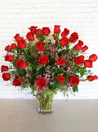 Three Dozen Premium Red Roses in Arlington Heights IL, Sylvia's - Amlings Flowers