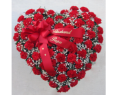 Red Carnation Heart in Mechanicville NY, Matrazzo Florist