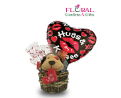 Medium Plush Basket in Palm Beach Gardens FL, Floral Gardens & Gifts