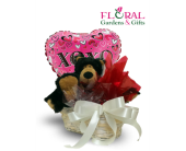 Big Plush Basket in Palm Beach Gardens FL, Floral Gardens & Gifts