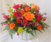 Color Burst Bouquet in Saratoga Springs NY, Dehn's Flowers & Greenhouses, Inc