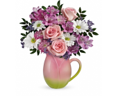 Spring Tulip Pitcher Bouquet  in Smyrna GA, Floral Creations Florist
