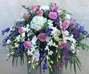 GRACEFUL MEMORIES CASKET SPRAY  by Rubrums in Ossining NY, Rubrums Florist Ltd.