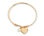 Gold Heart Bangle Bracelet in Smyrna GA, Floral Creations Florist