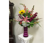 Purple and Pink Fantasy in Oklahoma City OK, Flowers By Pat