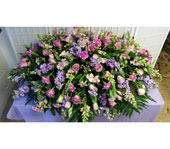 Casket Spray of Pinks and Lavenders in Dagsboro, Delaware, Blossoms, Inc.