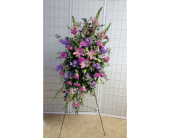 Standing Spray with Mixed Pinks and Lavenders in Dagsboro, Delaware, Blossoms, Inc.