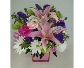 Delightfully Pink in Raleigh NC, Gingerbread House Florist - Raleigh NC