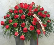 ETERNAL LOVE CASKET SPRAY  by Rubrums in Ossining NY, Rubrums Florist Ltd.