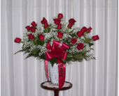 24 Roses Vased in Yonkers NY, Hollywood Florist Inc
