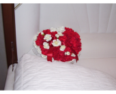 Casket Heart 1 in Yonkers NY, Hollywood Florist Inc