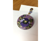 Pansy Circle Pendant in Darlington WI, A Vintage Market Floral