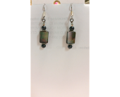Opal Rectangle Drop Earings in Darlington WI, A Vintage Market Floral