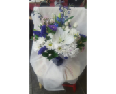 White and Blue Floral Arrangement in Carlsbad CA, El Camino Florist & Gifts