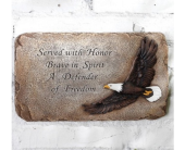 Eagle Honor Plaque in Fort Worth TX, Greenwood Florist & Gifts