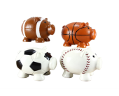 Sports Themed Piggy Banks in Fort Worth TX, Greenwood Florist & Gifts