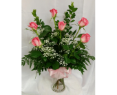 Half Dozen Pink Roses in Grand Rapids MN, Shaw Florists