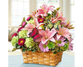 Blooming Garden Basket in Largo FL, Rose Garden Flowers & Gifts, Inc