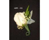 Rose Boutonniere and ribbon tuck in Fort Collins, Colorado, Audra Rose Floral & Gift