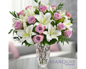 Marquis by Waterford� Purple Rose & Lily Bouquet in Watertown CT, Agnew Florist